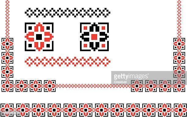 ilustrações, clipart, desenhos animados e ícones de elementos de design-preto & vermelho - ucrânia