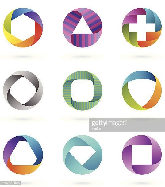 Design-Elemente/circle set#1