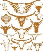 Design Elements - Cow Heads