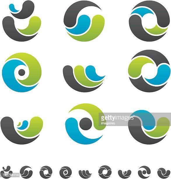 デザイン要素-カーブ - 陰点のイラスト素材/クリップアート素材/マンガ素材/アイコン素材
