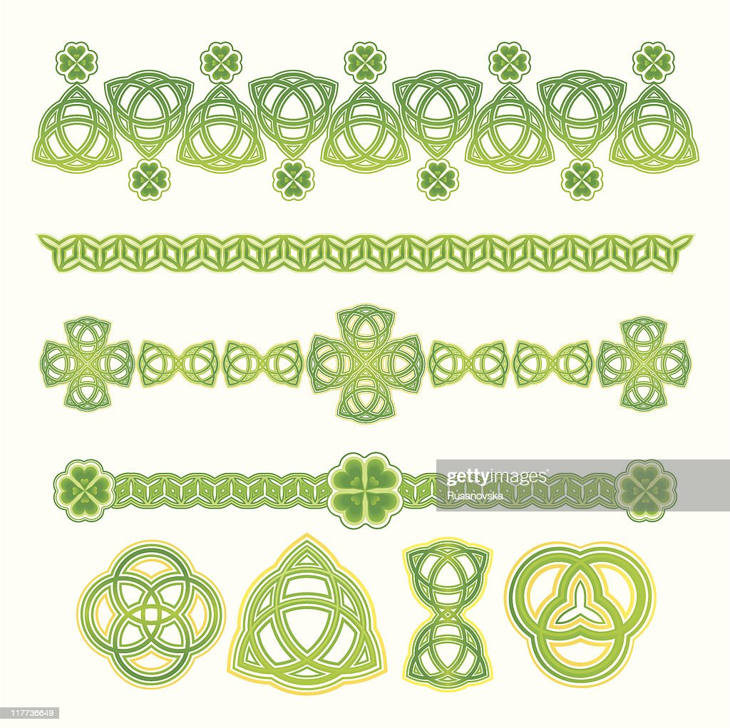 Design Elements for St. Patrick's Day (colour)