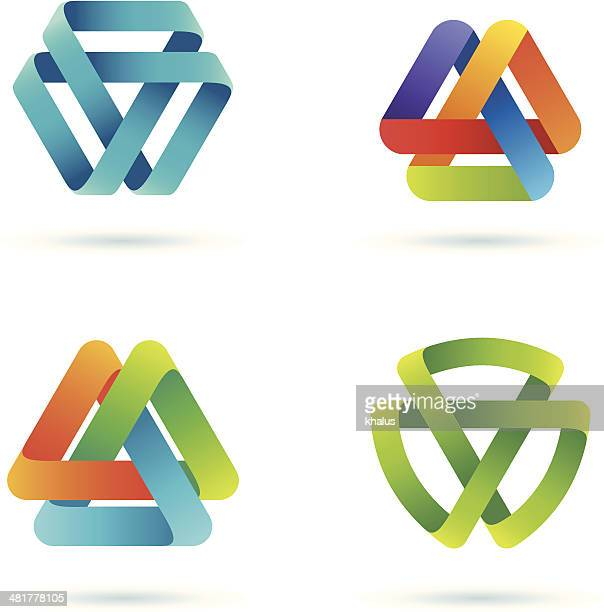 design elements | mobius stripe - infinity stock illustrations