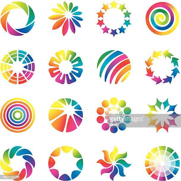 design elements, rainbow - spiral stock illustrations