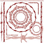 Design Elements - Rusty Red Barbed Wire