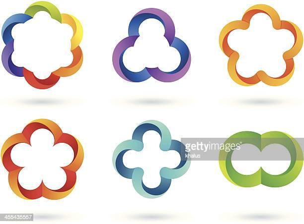 Elementos de diseño/rayado iconos de borde infinito