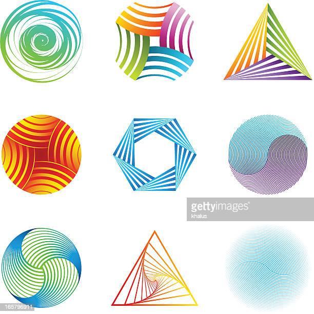 design-elemente/streifen-set - drehen stock-grafiken, -clipart, -cartoons und -symbole