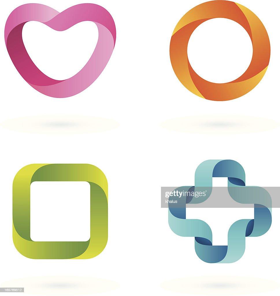 Design Elements   Striped symbols #1