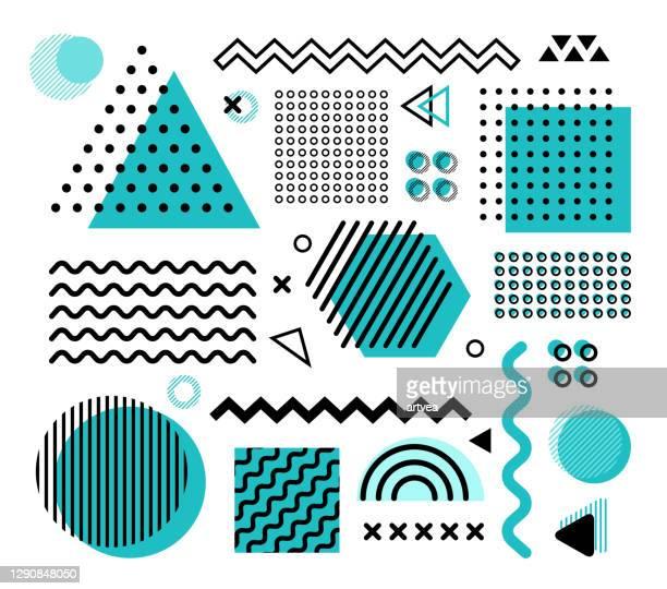 illustrazioni stock, clip art, cartoni animati e icone di tendenza di elementi di progettazione - composizione