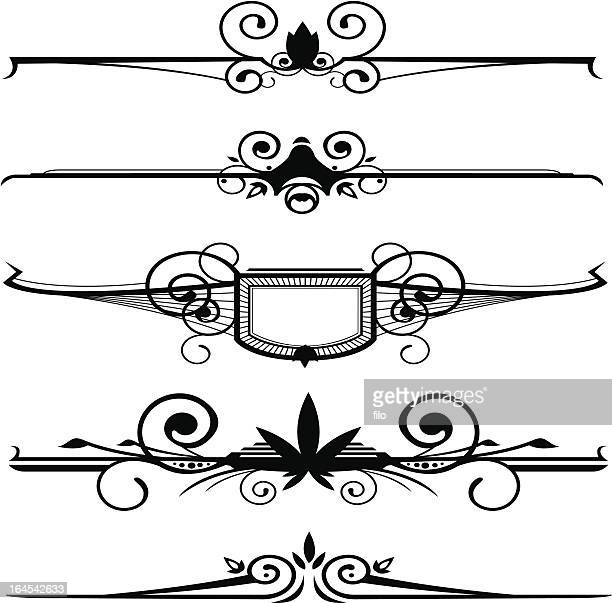 design elements - embellishment stock illustrations