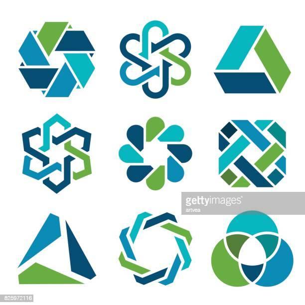 ilustraciones, imágenes clip art, dibujos animados e iconos de stock de elementos de diseño - logotipo