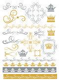 Design elements vintage frames and borders rule scroll vector illustration