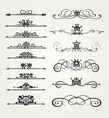 Design elements, vintage style, vektor art