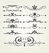 Design elements, vintage style, vektor illustration
