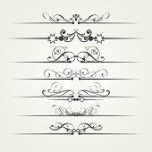 Design elements, vintage style, vektor