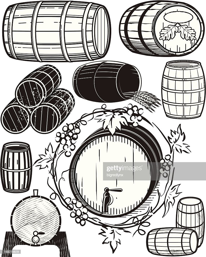 Design Elements - Wooden Barrels