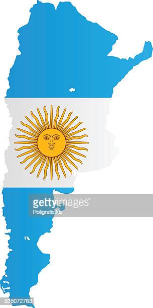 Design Flag-Map of Argentina
