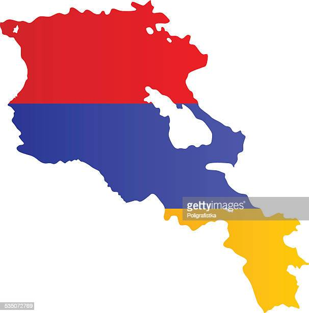 design flag-map of armenia - armenian flag stock illustrations