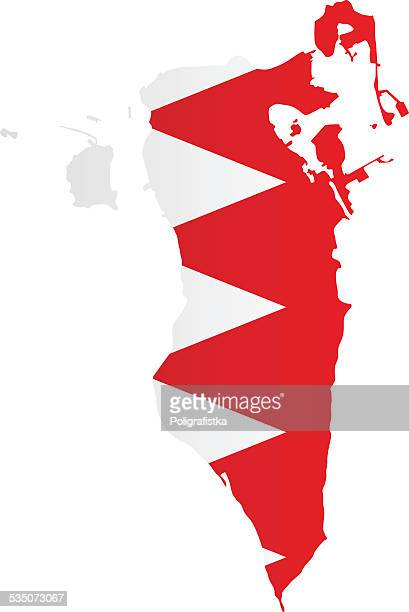 design flag-map of bahrain - bahrain stock illustrations, clip art, cartoons, & icons