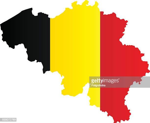 Design Flag-Map of Belgium