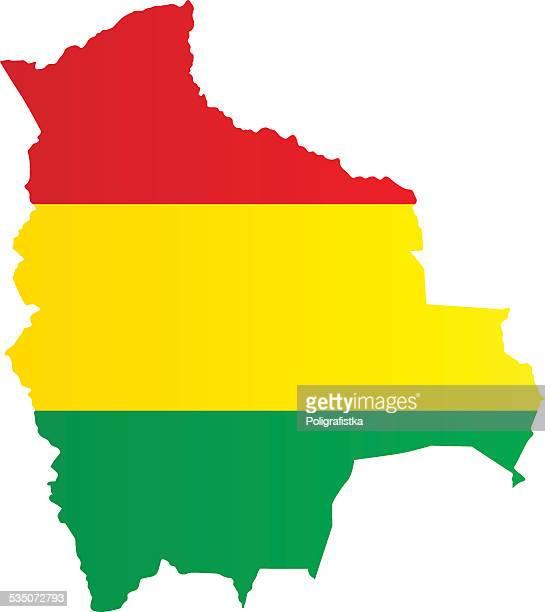 Design Flag-Map of Bolivia