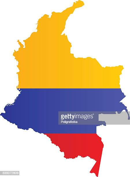 design flag-map of colombia - colombia stock illustrations
