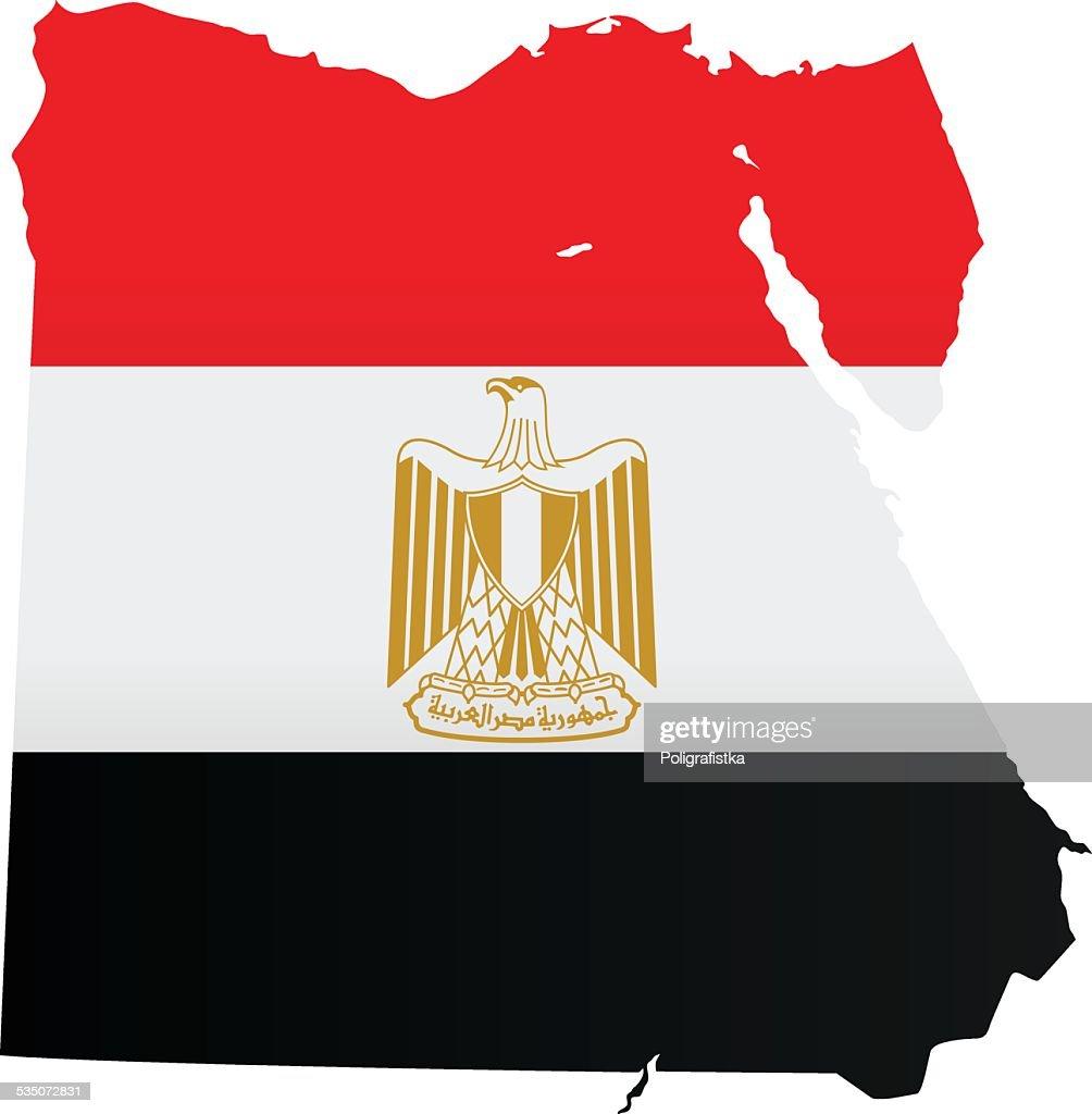 Design Flag-Map of Egypt