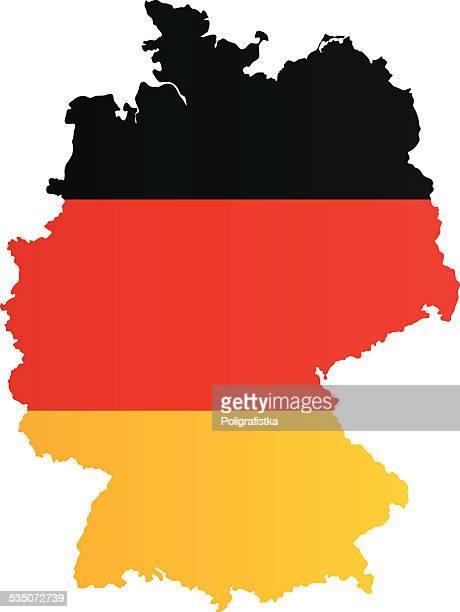Design-Flagge Karte von Deutschland