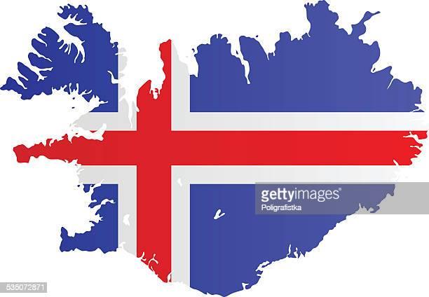 Design Flag-Map of Iceland