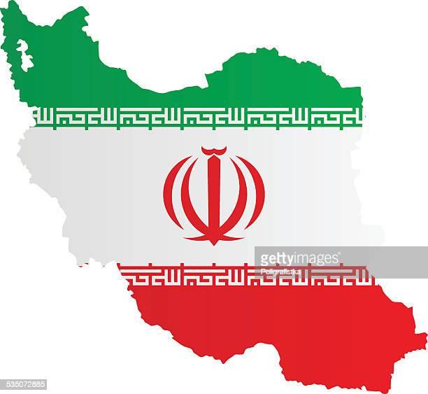 design flag-map of iran - iran stock illustrations