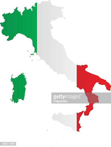 Design Flag-Map of Italy