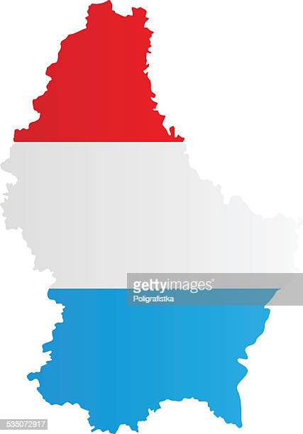 Design Flag-Map of Luxembourg