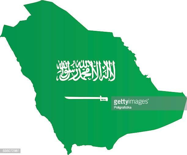 Design Flag-Map of Saudi Arabia