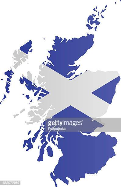 Design Flag-Map of Scotland