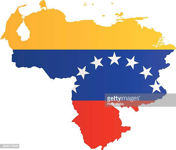 design flag-map of venezuela - venezuela stock illustrations