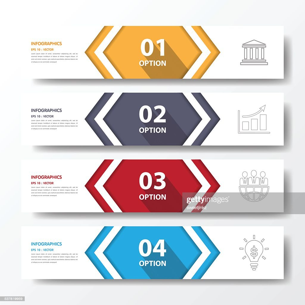 Design flat shadow step number banners /graphic or website.vecto