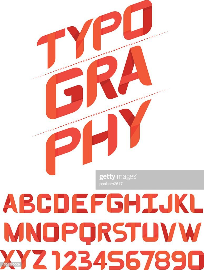TYPOGRAPHY Design font for you.vector