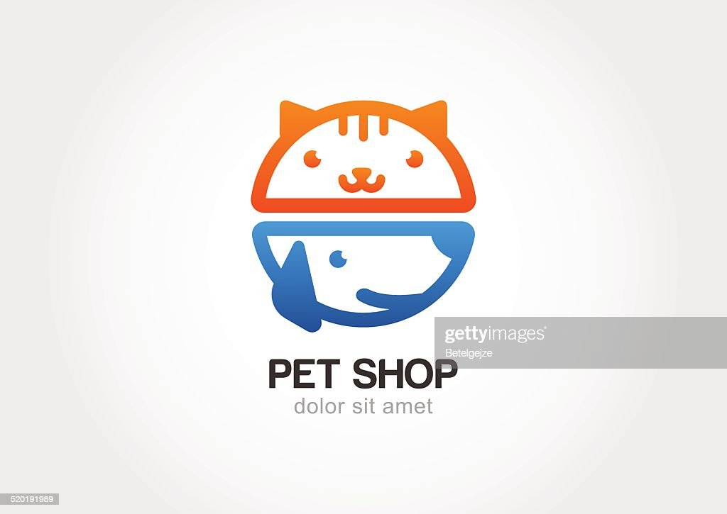 Design  for pet shop or veterinary. Dog and cat logo
