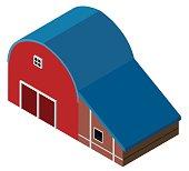 3D design for red barn
