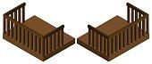 3D design for wooden balcony