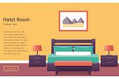 Design hotel room. Vector background.