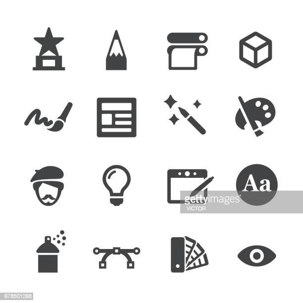 design icons - acme series - proofreading stock illustrations, clip art, cartoons, & icons