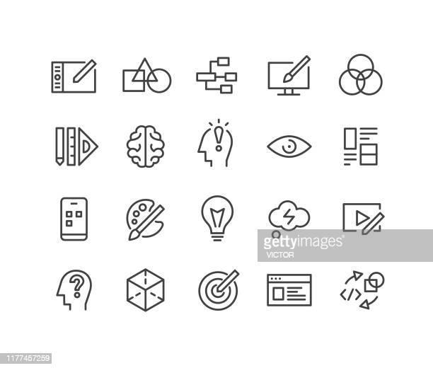 design icons - classic line series - graphic designer stock illustrations