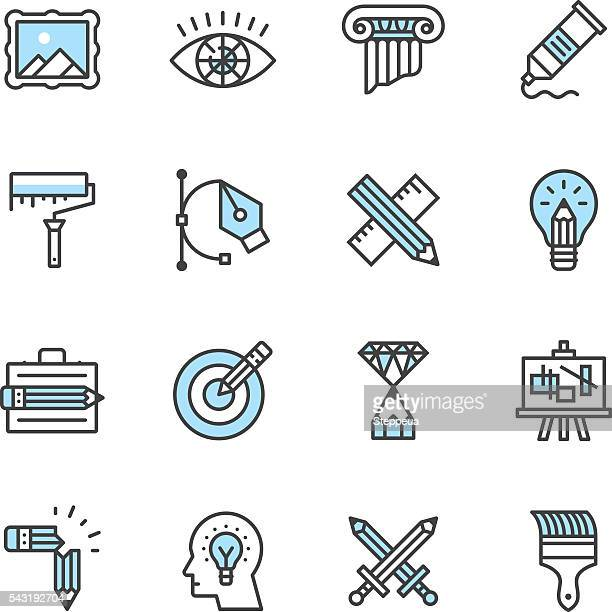 design icons - pencil stock illustrations, clip art, cartoons, & icons