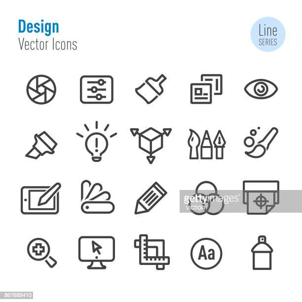 Design Icons - Vector Line Series
