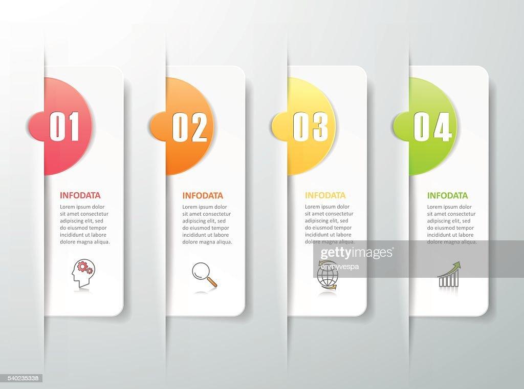Modèle De Conception Infographie Quatre Options Concept Daffaires