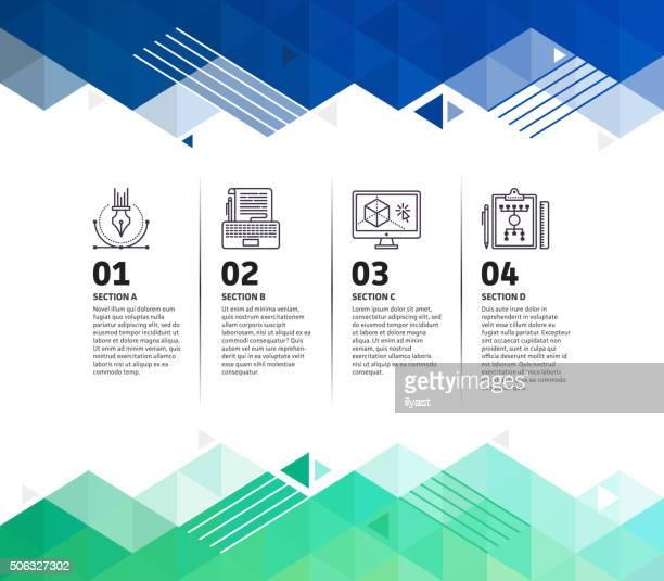Abstrakte Hintergrund Design-Infografik