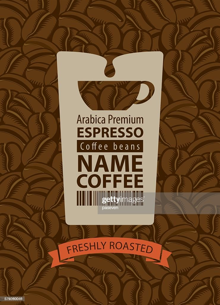 design label for coffee beans