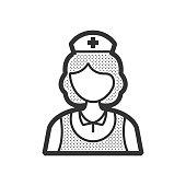 design nurse icon, old clothe style