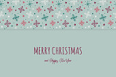 design christmas card with snowflakes wishes