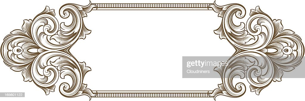 Design Of A Vintage Scroll Frame Vector Art   Getty Images